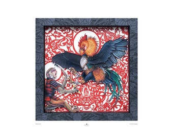 Year of the Rooster Print 'Zodiac Battle' Fine Art Print
