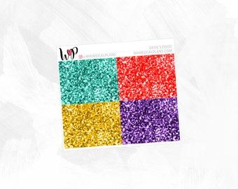 Devil's Food Glitter Headers | Matte Glossy Planner Stickers