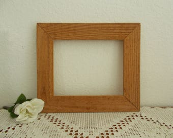 Rustic Wide Wood Picture Frame 8 x 10 Photo Decoration Mid Century Man Cave Natural Country Farmhouse Western Ranch  Home Decor Gift Him Her