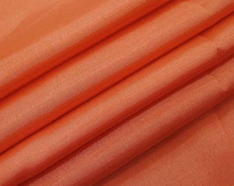 "Indian Shantung Fabric, Peach Fabric, Dress Material, Home Decor Fabric, 43"" Inch Silk Fabric By The Yard ZSH4F"