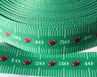 "Football Design Dog Collar - Side Release Buckle (1"" Width) - D-Ring Martingale Option Available"