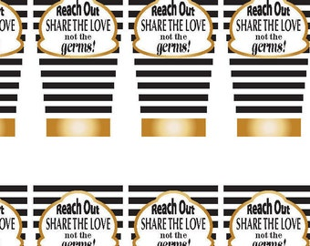 Set of 12 Labels - Downloadable labels - Hand Sanitizer label - Printable labels for bottles