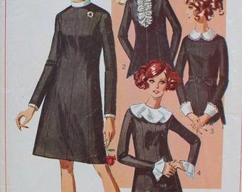 1960s Dress Pattern - Uncut Simplicity 7843 Sewing Pattern - Bust 40