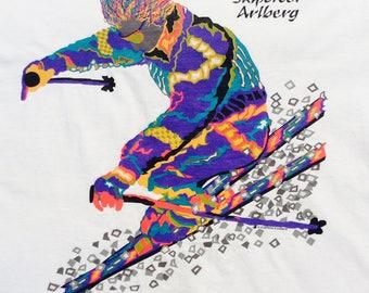 1980s ARLBERG SKIPOWER SOUVENIER Made in U.S.A Vintage Shirt