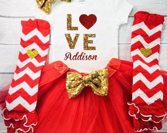Toddler Girl Valentine's shirt, LOVE, Valentine's Shirt,  Baby Girl Valentine's Day Top Heart top, 1st Valentine's Day, First Valentines Day
