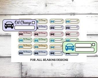 Car Oil Change Planner Stickers, Car Repair Planner Stickers