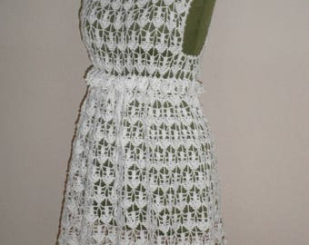 white crocheted dress - beach tunic