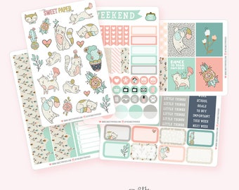 Purr-Fect Planner Sticker Set | Fits ECLP Vertical or Classic Happy Planner