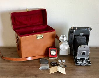 Vintage Polaroid Land Camera Model 150; Vintage Camera; Polaroid Camera; Polaroid Land Camera; Mid Century Camera