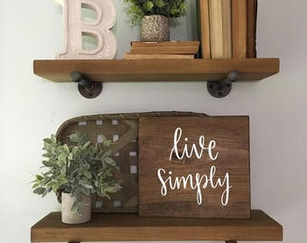 Live Simply - Wood Sign