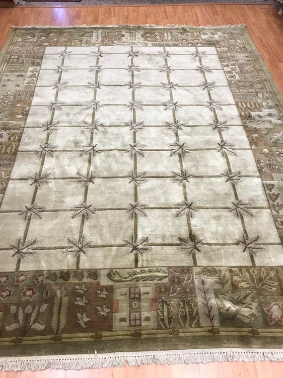 8' x 10' Indian Nepal Oriental Rug - Full Pile - Hand Made - 100% Wool