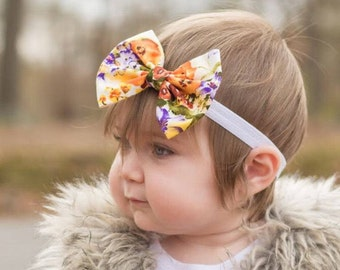 Country floral, floral bow, baby bows,