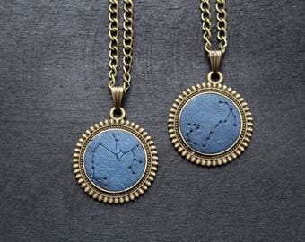 Brother birthday gift for him gifts for mens zodiac jewelry unisex necklace constellation necklace for men Zodiac gift for mens necklace