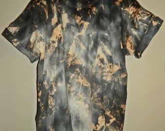Tie Dye T-Shirt acid wash T-shirt hipster festival grunge Retro 90s punk dip dye unisex rave skate top
