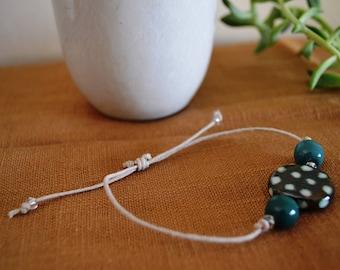 Polka dot adjustable bracelet