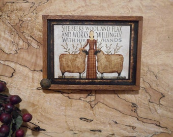 "Magnet:  Unique Primitive Rustic 3"" by 4"" Framed Magnet/Wall HangingTeams FAAP OFG  WRR"