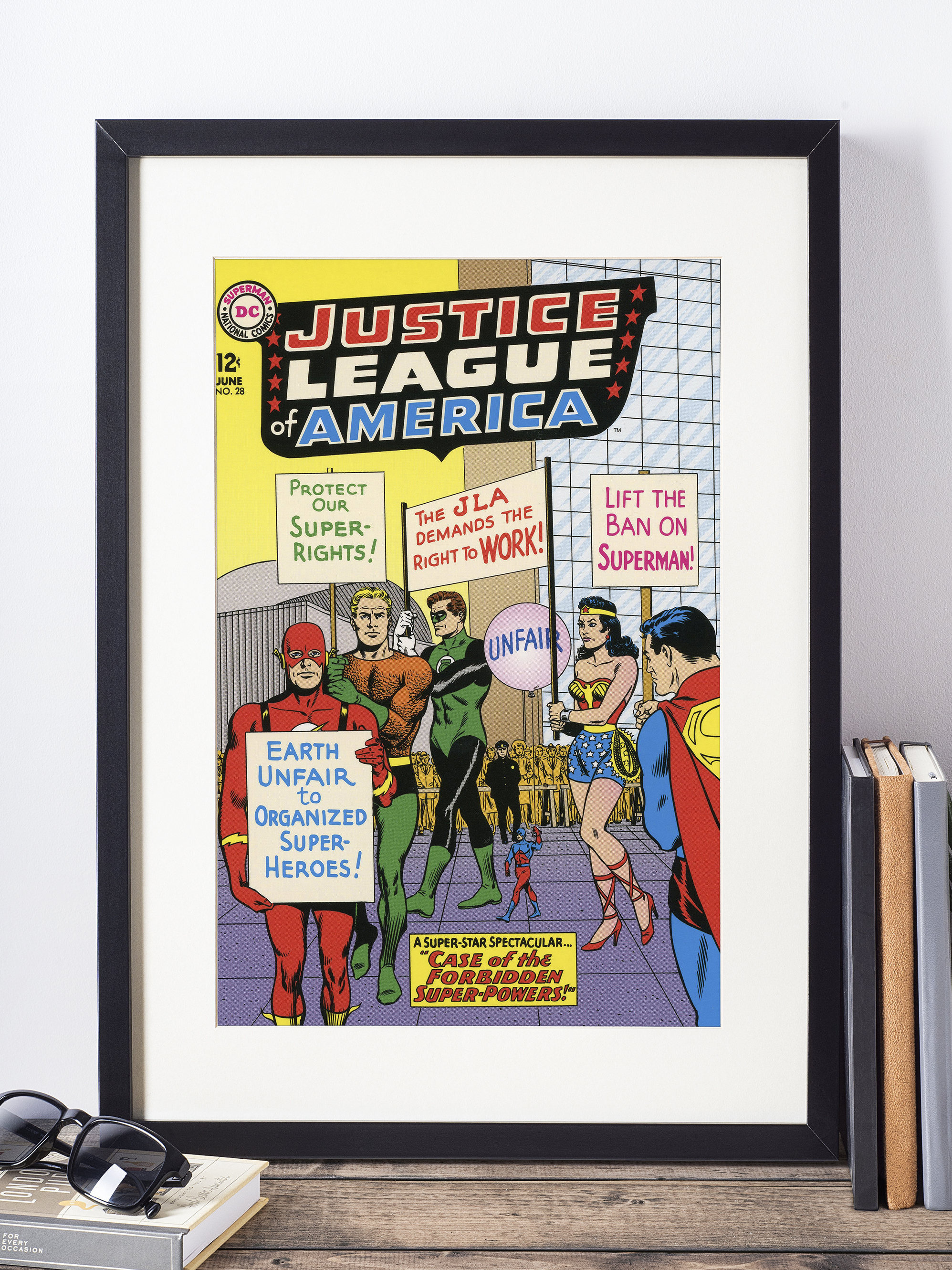 The Justice League Wall Art / Vintage Comic Book Cover / Superhero ...
