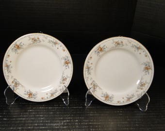 "TWO Noritake Legendary Secret Love Bread Plates 3481 6 1/4"" (Set of 2) NICE!"