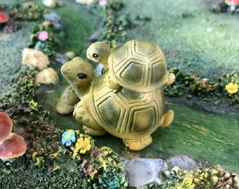 Miniature Turtle on a Turtle