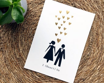 Bride & Groom wedding print