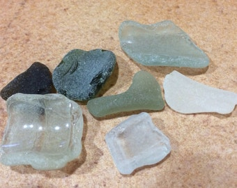 Genuine Sea Glass, Bulk Sea Glass, Genuine Beach Glass, Tumbled Glass, Large Sea Glass.