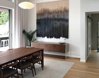 CUSTOM EXTRA LARGE Wool Dip Dyed Wall Hanging || Fiber Wall Hanging || Boho Handmade Tapestry