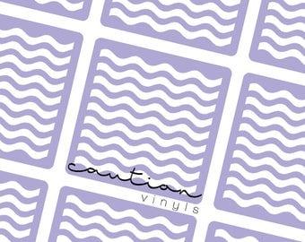 Wavy Lines Nail Vinyls - Nail Stencil for Nail Art