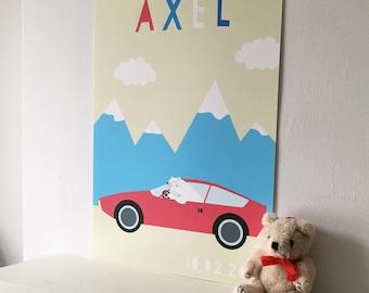 Personalised bespoke Polar bear Alpha art print
