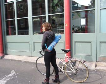 Yoga Mat Bag THIRD-EYE-VIS, Turquoise Orange Mandala