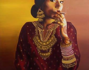 Badass Indo-Chinese Bride (2015) - Canvas Giclee Print