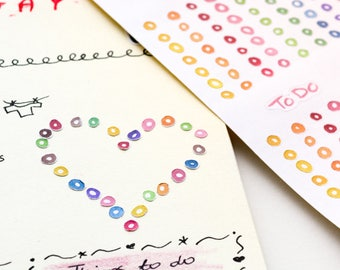 to do stickers watercolor to do planner stickers to do checklist stickers rainbow to do headers functional stickers handdrawn stickers