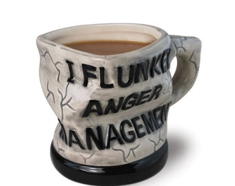 Anger management coffee/tea Mug Cup funny gifts, gifts for her, gifts for him, Christmas gift, unique gifts