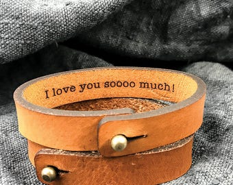 Valentines gift for husband ideas, Boyfriend gift idea for Christmas, Leather bracelet for husband, Valentines gift idea for boyfriend Gift