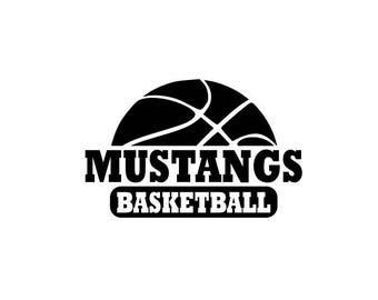 Mustangs svg, Mustangs Basketball svg, Basketball svg, SVG, DXF, EPS, Silhouette Studio, Cut Files, Digital Cut Files, Cricut