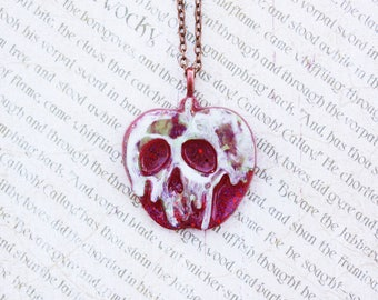 Halloween Poison Apple Necklace - Snow White Inspired Necklace - Disney Evil Queen Poison Apple Jewelry Necklace