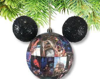 Personalized Walt DisneyWorld  Photo Memory Ornament-Large (Disney Theme Parks-Magic Kingdom, Epcot, Hollywood Studios, Animal Kingdom)