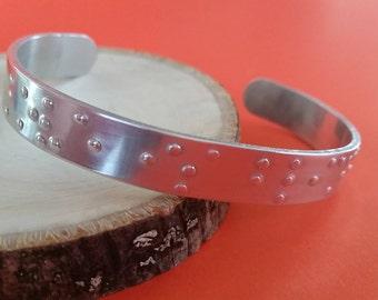Customize a Braille cuff