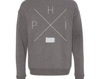 Philadelphia Sweatshirt - PHI Home Sweater, Pennsylvania Off Shoulder Sweatshirt