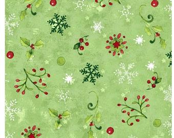 Believe in the Season - Per Yd - Clothworks by Sue Zipkin - Multi - Stripe