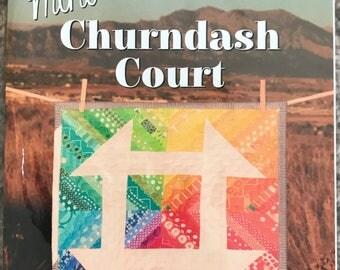 Mini Churndash Court - A Mini Quilt Pattern by Sassafras Lane Designs