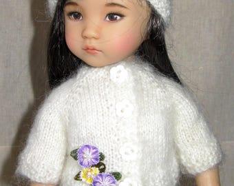 Hand knitted jacket for Effner Little Darling