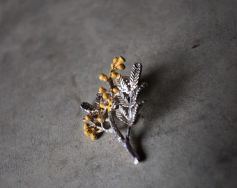 Flowers vintage pins / / Mimosa brooch / / jewelry flowers