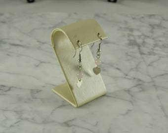 Sterling Silver Dangle Hearts (pierced)