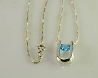 """Reserved Townley Sterling Silver Interchangeable Stone Necklace  17"""""""