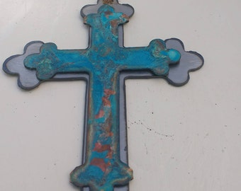 Patina Spanish Cross Ornament