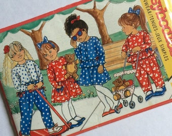 1989 Busybodies Children's Funwear Uncut Sewing Pattern by Butterick No.4339 Ages 2-3-4