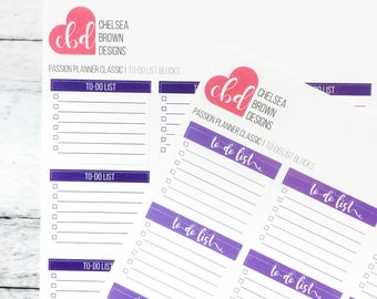 To-Do Block Stickers | Passion Planner Stickers for the Classic and Compact Size