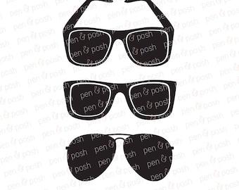 Sunglasses SVG - Summer SVG - Beach SVG - Sunglasses Dxf - Sunglasses ClipArt - Instant Download - Cricut Files - Svg Bundle