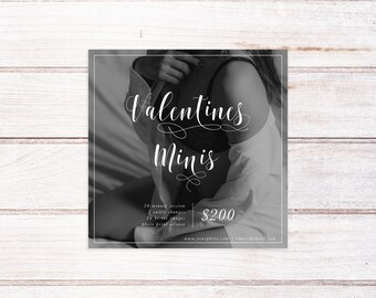 Valentines Day Mini Session Template, Boudoir Session Template, Boudoir Template, Photography Marketing Template,  Boudoir Mini Session