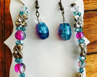Rock Candy: Bracelet and Earring Set